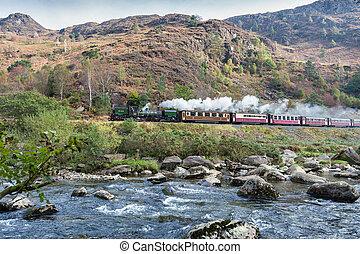 galês, estrada ferro, altiplano