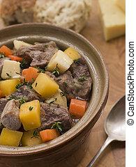 galês, pote, cawl, casserole