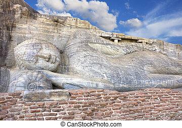 Gal Vihara, Polonnaruwa, Sri Lanka - Image of a 14 meter...