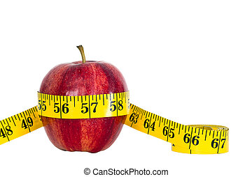 apple with measure tape