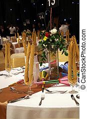gala, table dîner, installation