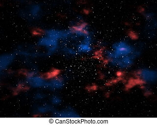 Galactic Background - Galactic outer space rendering.