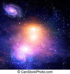 galaktiske, arealet