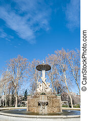 Galapagos Fountain in Madrid, Spain.