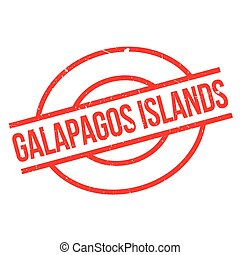 Galapagos Islands rubber stamp. Grunge design with dust...