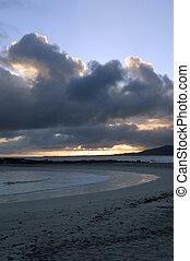 galapagos, tramonto, /, alba
