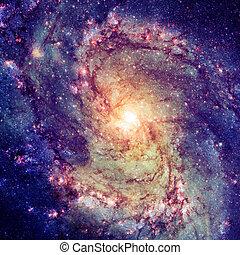 galassia spirale, lucente