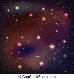 galassia, vettore, -, fondo, illustrazione