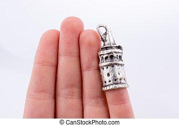 galata, башня, держа, рука