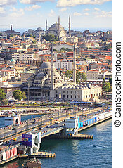 Galata Bridge, Istanbul - Galata Bridge in Istanbul, Turkey....