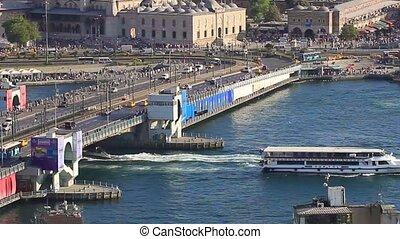 Galata Bridge - Istanbul Galata Bridge over Golden Horn.