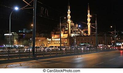 Galata Bridge with Mosque,