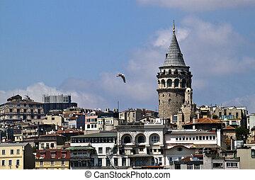 Galata district in Istanbul
