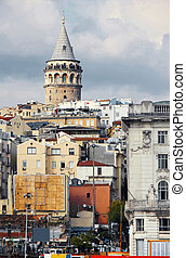 Galata Tower in Istanbul Turkey - galata tower from a...