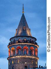 Galata Tower in Istanbul, Turkey - Galata Tower in Istanbul...