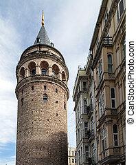 Galata tower in Istanbul, Turkey - landmark Galata tower in...