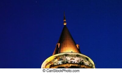 Galata Towers at the Istanbul Turkey