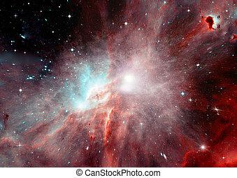 galaxia, libre, espacio