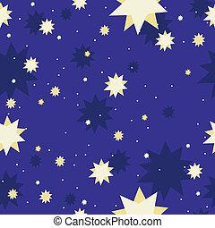 galaxia, vector, estrella, seamless, plano de fondo