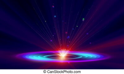 galaxie, atome, rayon, 4k, lumière