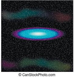 galaxie, espace
