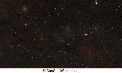 galaxie, nébuleuse, nuit, étoiles, ciel