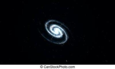 galaxie, raum, hereinsausen, zu
