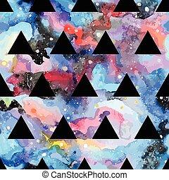 galaxie, seamless, pattern.