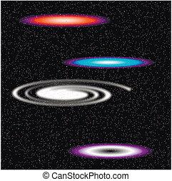 galaxies, espace