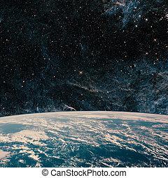 galaxy., éléments, espace, ceci, ciel, image, meublé, quelques-uns, nasa., nuit, la terre