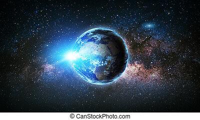 galaxy., éléments, meublé, ceci, image, nasa., la terre