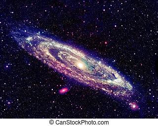 galaxy., ardendo, spirale