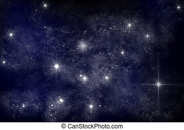 Galaxy - art work of galaxy on dark blue background