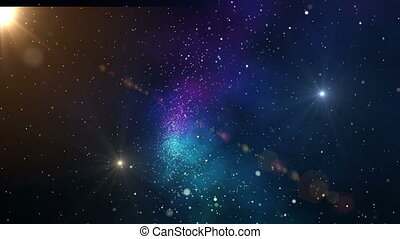 Stars flying through the universe.