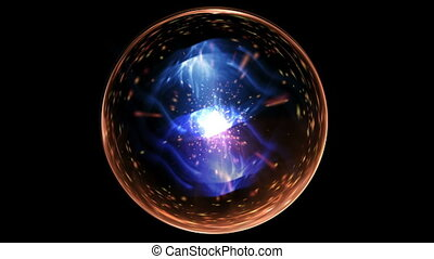 galaxy ball in space