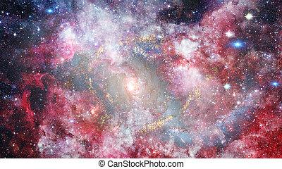galaxy., communie, gemeubileerd, dit, beeld, nasa., dreamscape