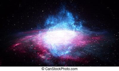 Galaxy fly through