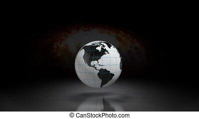Galaxy globe description. Globe backlit. Space astronomy...