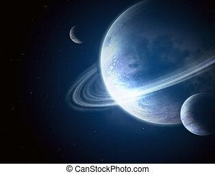 Illustration - a fantastic beautiful galaxy