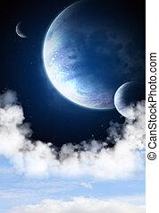 Galaxy - Illustration - a fantastic beautiful sky