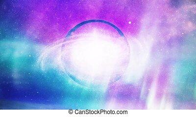 Galaxy inside the crystal ball