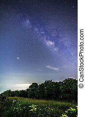 galaxy milky way in night sky