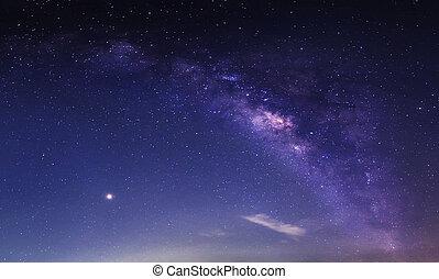 galaxy milkyway in night sky background
