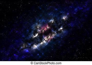 Galaxy ( Milkyway ) - Milkyway Galaxy in deep space,...