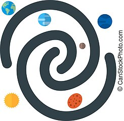 Galaxy, space, universe icon vector image. Can also be used...