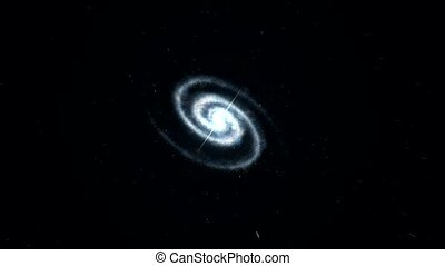 galaxy space zoom in to