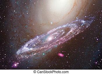 galaxy., spirale, lucente