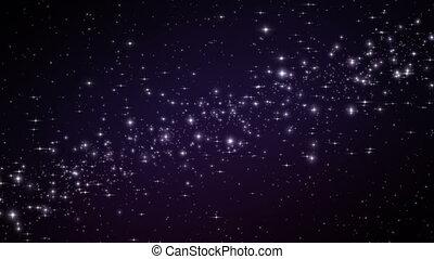 Galaxy Stars in Deep Space. Looped Animation. 4k Ultra HD 3840x2160.