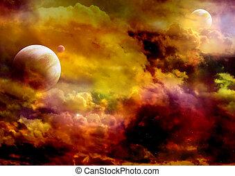 Galaxy - Illustration - a fantastic beautiful galaxy