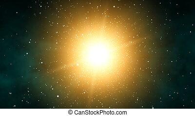 Galaxy Sunshine (60fps) - Orbiting through stars around the...